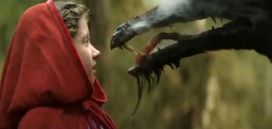 Červená Karkůlka tváří v tvář vlkovi